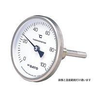 佐藤計量器製作所 バイメタル式温度計 BM-T-75S 2110-10 ー30〜50℃ 60mm 1セット 61-0096-50 (直送品)
