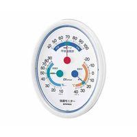 快適モニター(温度・湿度・不快指数計) 168×130×19mm 190g(ディスプレイ箱) CM-6301 61-6864-20(直送品)