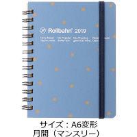 ロルバーン ダイアリー M 2019年 手帳 A6変形 月間(マンスリー) 星 ブルーグレー DELFONICS