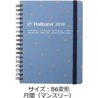ロルバーン ダイアリー L 2019年 手帳 B6変形 月間(マンスリー) 星 ブルーグレー DELFONICS