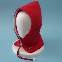 おぢや元気プロジェクト 防災頭巾 おまもり頭巾ちゃんフリーサイズ 携帯用 レッド 36050002(直送品)