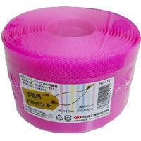 小巻PPバンド15mm×100m透明ピンク(透明カラー色) PPBAND15-100-CP 1セット(10巻) 信越工業(直送品)