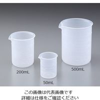 ニッコー PP・ビーカー500mL 35-7305-55 1個 (直送品)