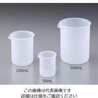 ニッコー PP・ビーカー200mL 35-7307-55 1個 (直送品)