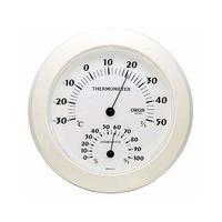 クレセル 温湿度計 ホワイト CR-221W 1個 62-3966-01(直送品)