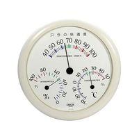 CRECER(クレセル) 不快指数計付温湿度計ホワイト CF-310W 1個 62-3966-06(直送品)