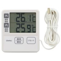 ドリテック(DRETEC) 室内・室外温度計 O-285IV 1個 62-8553-21 (直送品)