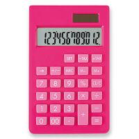 アスカ カラーポケット電卓 ピンク 桃 C1237P 1個