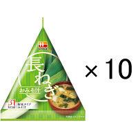 ハナマルキ 三角パックごちそう具材 長ねぎのおみそ汁 10個