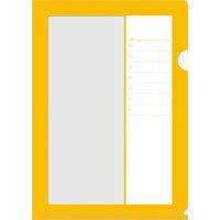 ビバリー 書けるクリアファイル リスト オレンジ CF-030A 1セット(10枚セット)(直送品)
