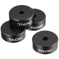 TAOC グラデーション鋳鉄インシュレーター マットブラック 直径550×高さ20mm TITE-13GS 1セット(8個入り) (直送品)