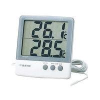 佐藤計量器製作所 デジタル最高最低温度計 PC-6800 校正成績書+校正証明書 1式 61-9438-04 (直送品)