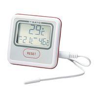 佐藤計量器製作所 最高最低温度計 PC-3500 内蔵温度校正書類付 1式 62-0850-80 (直送品)