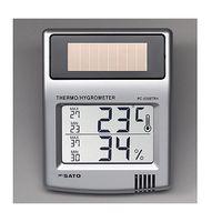 佐藤計量器製作所 ソーラーデジタル温湿度計 校正書類付 PC-5200TRH 1式 62-0851-01 (直送品)