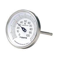 佐藤計量器製作所 バイメタル式温度計 BM-T-90S 0〜200℃ 150L 1個 61-0065-92(直送品)