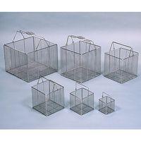 三和化研工業 SS100角型洗浄カゴ 100×100×100(H) SS100 1個 61-3521-15 (直送品)