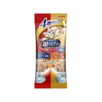銀のスプーン 猫用 パウチ 15歳が近づく頃から まぐろ/まぐろ・かつおにささみり (60g×4個) 1袋 ユニ・チャーム