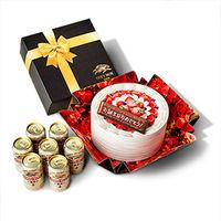 【LOHACO先行販売】キリンビール 一番搾り 誕生日ケーキBOXギフトセット 350ml×7缶
