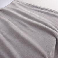 無印良品 あたたかファイバー厚手毛布・S/ライトグレー 140×200cm 02525156 良品計画