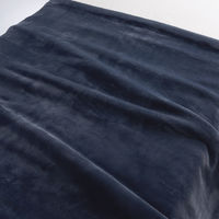 無印良品 あたたかファイバー厚手毛布・S/ネイビー 140×200cm 02525170 良品計画