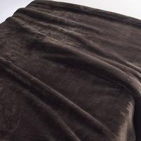 無印良品 あたたかファイバー厚手毛布・S/ブラウン 140×200cm 02525217 良品計画