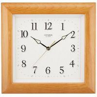 シチズン 角型クオーツ木枠時計