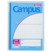 コクヨ キャンパス プリント整とんカバーノート セミB5 方眼罫 ブルー 青 1冊 ノ-623S10-5B