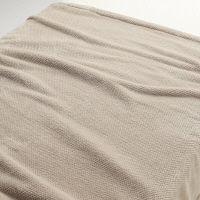 無印良品 あたたかファイバー鹿の子毛布・S/ベージュ 140×200cm 02525316 良品計画