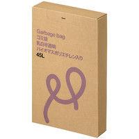アスクル 乳白半透明ゴミ袋 低密度タイプ 箱入り 45L PCUY3 1箱(100枚入)