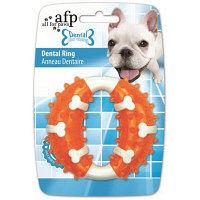 【ワゴンセール】afp Dental dog chews デンタルリング チキンフレーバー オレンジ 犬用 おもちゃ 1個 サンメイト
