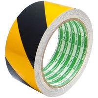 日東エルマテリアル 再帰反射テープ トラ柄(黄/黒) 幅45mm×長さ10m HTー45Y/B 1巻