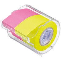 ヤマト メモックロールテープ詰替用 強粘着タイプ ローズ&レモン 幅25mm カッター付 PRK-25CH-RL