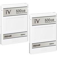 maxell M-VDRS500G.C.2P カセットハードディスク iVDR 容量500GB 2個パック 日立薄型テレビ「Wooo」対応 1式 (直送品)