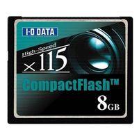 アイ・オー・データ機器 CF115-8G 115倍速相当 コンパクトフラッシュカード 8GB 1枚 (直送品)