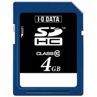 アイ・オー・データ機器 SDH-T4G スピードクラス10対応SDHCメモリーカード 4G B 1個 (直送品)