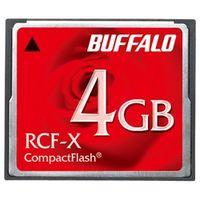 バッファロー RCF-X4G コンパクトフラッシュ ハイコストパフォーマンスモデ ル 4GB 1台 (直送品)
