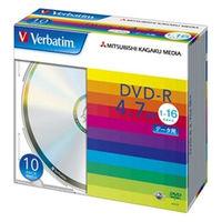 三菱化学メディア DHR47J10V1 DVDーR 4.7GB PCデータ用 16倍速対応 10枚スリムケース入り シルバーディスク 1パック (直送品)