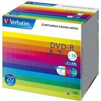 DHR47JP20V1 DVDーR 4.7GB PCデータ用 16倍速対応 20枚スリムケース入り ワイド印刷可能 1パック 三菱化学メディア (直送品)