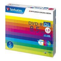 三菱化学メディア DHR85HP5V1 DVDーR DL 8.5GB PCデータ用 8倍速 対応 5枚スリムケース入り ワイド印刷可能 1パック (直送品)