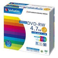 DHW47NDP10V1 DVDーRW 4.7GB CPRM PCデータ用 2倍速対応 10枚スリムケース入り ワイド印刷可能 1 三菱化学メディア (直送品)