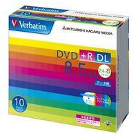 三菱化学メディア DTR85HP10V1 DVD+R DL 8.5GB PCデータ用 8倍速 対応 10枚スリムケース入り ワイド印刷可能 1パック (直送品)