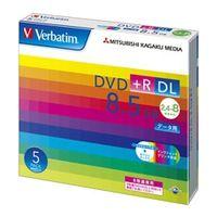 三菱化学メディア DTR85HP5V1 DVD+R DL 8.5GB PCデータ用 8倍速 対応 5枚スリムケース入り ワイド印刷可能 1パック (直送品)