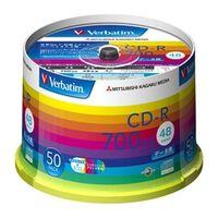 三菱化学メディア SR80SP50V1 CDーR 700MB PCデータ用 48倍速対応 50枚スピンドルケース入り ワイド印刷可能 1パック (直送品)