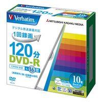 三菱化学メディア VHR12JP10V1 DVDーR(CPRM) 録画用 120分 1ー16 倍速 5mmケース10枚パック ワイド印刷対応 1個 (直送品)