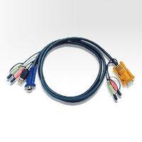 ATEN 2L-5303U USB オーディオ KVMケーブル 3m SPHD KVM用 1本 (直送品)