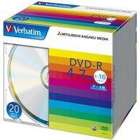 三菱化学メディア DHR47J20V1 DVDーR 4.7GB PCデータ用 16倍速対応 20枚スリムケース入り シルバーディスク 1パック (直送品)