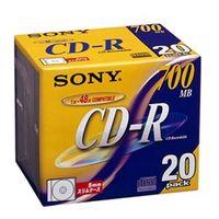 ソニー 20CDQ80DN データ用CDーR 追記型 700MB 48倍速 ノ ンプリンタブル(シルバーレーベル) 20枚P 1式 (直送品)
