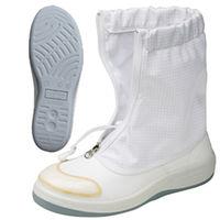ミドリ安全 静電安全ブーツ SCR1300CAP ハーフフード ホワイト 24.5cm 1足(直送品)