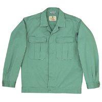 ミドリ安全 綿2つポケットジャンパー M6079 上 エメラルドグリーン 5L 1着(直送品)