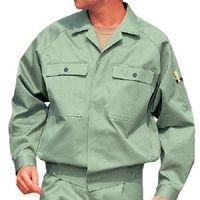 ミドリ安全 綿ブルゾン M6476 上 アースグリーン LL  1着(直送品)